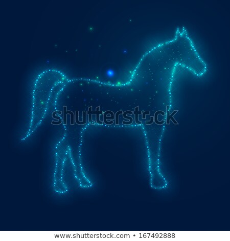 Stock photo: Horses Stars And The Night