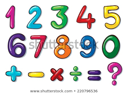 Colourful numbers and mathematical operations Stock photo © bluering