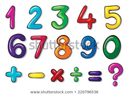 numérico · matemático · metal · dibujo · matemáticas - foto stock © bluering