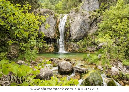 Ourlia waterfalls at Olympus mountain, Greece stock photo © ankarb