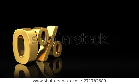 Zero percent black slide Stock photo © timbrk