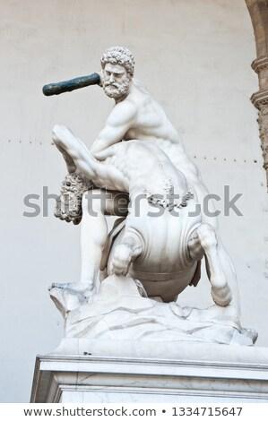 statue · FLORENCE · Italie · bâtiment · homme · art - photo stock © photocreo