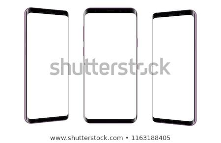 Stockfoto: Drie · telefoons · icon · telefoon · cel · smart