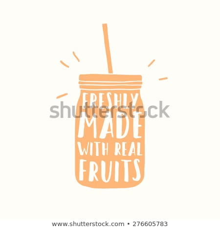 Frissen dzsúz smoothie igazi gyümölcsök vektor Stock fotó © doddis