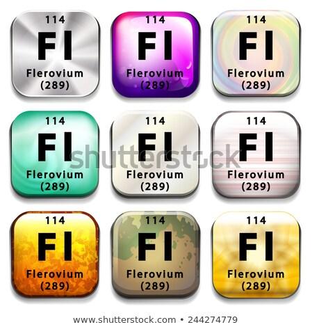 A periodic table showing Flerovium Stock photo © bluering