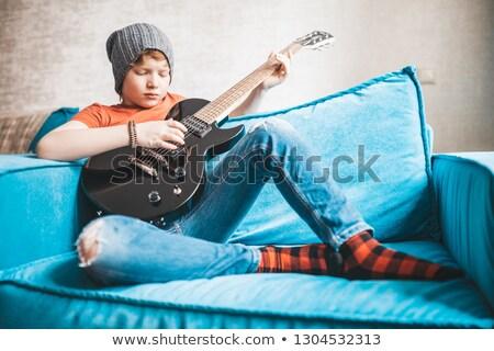 Rock n roll boy child expressive Stock photo © lovleah