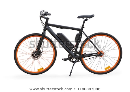 Green electric e-bike bicycle white background Stock photo © adrian_n