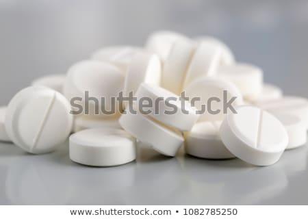 Hoop witte pillen medische pijn zorg Stockfoto © ironstealth