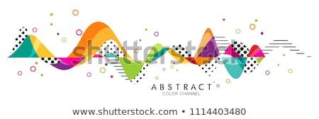 színes · háló · mértani · átláthatóság · modern · hálózat - stock fotó © expressvectors