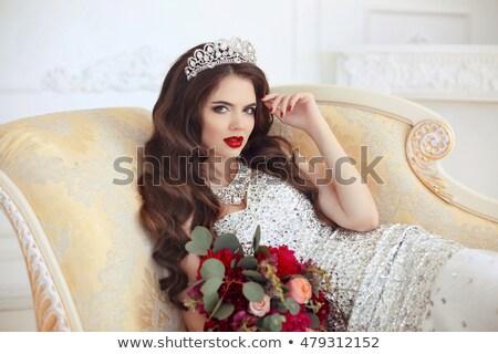 güzel · gelin · kadın · düğün · portre · kıvırcık · saçlı - stok fotoğraf © victoria_andreas