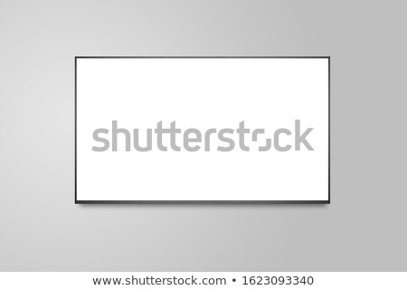 Tv készülék lapos kijelző képernyő média elektronika LCD Stock fotó © tarczas