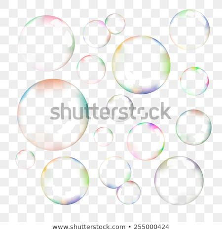 transparent soap bubble vector clip art stock photo © yopixart