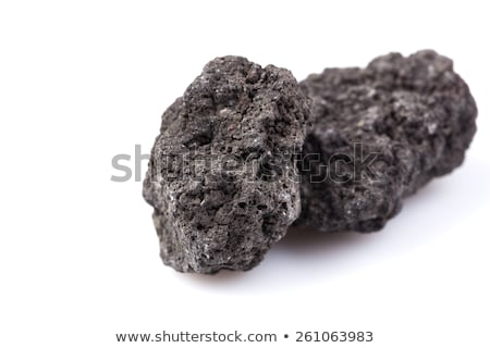 Black lava chunk Stock photo © Hofmeester