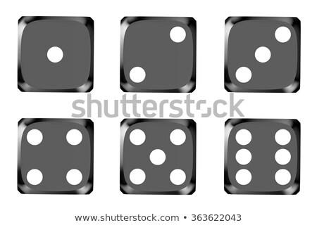 черный игры Dice изолированный белый бизнеса Сток-фото © djmilic