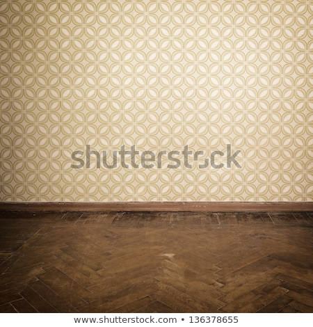 Empty old grungy room with vintage wallpaper stock photo © Panaceadoll