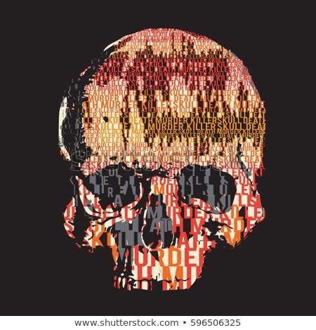 Halál tipográfia levelek csontok anatómia koponya Stock fotó © MaryValery