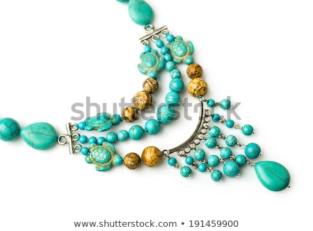 Jewelry with turquoise and jasper Stock photo © blackmoon979