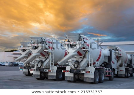 Stock photo: Cement truck in yellow color