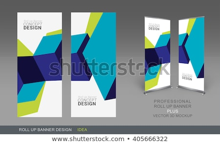 clean modern roll up banner template for your business stock photo © sarts