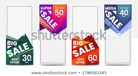 amazing sale discount brochure flyer template card for your prom stock photo © sarts