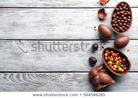 イースター 時間 卵 自然 卵 背景 ストックフォト © Wetzkaz