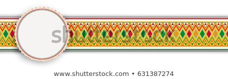 Mexicano ornamento titular banner adornos eps Foto stock © limbi007
