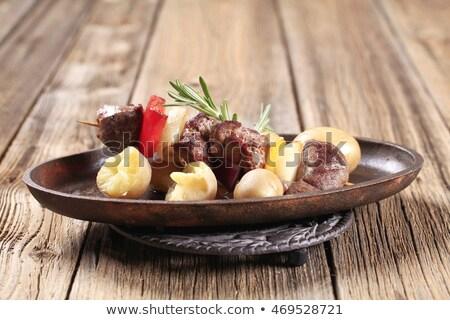 Beef shish kebab and new potatoes Stock photo © Digifoodstock