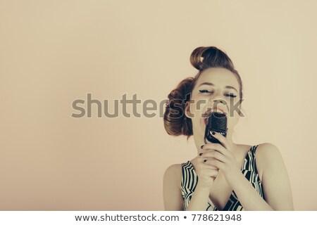 ピン · アップ · 少女 · 歌手 · 実例 - ストックフォト © lenm