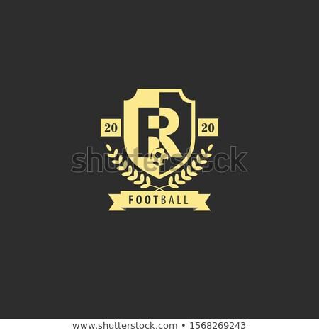 футбола колледжей лига эмблема шаблон мяча Сток-фото © masay256