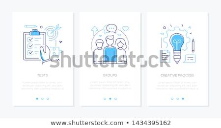 веб баннер школы образование иконки вектора Сток-фото © curiosity