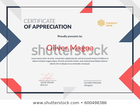 creative certificate of appreciation award template in red and g Stock photo © SArts