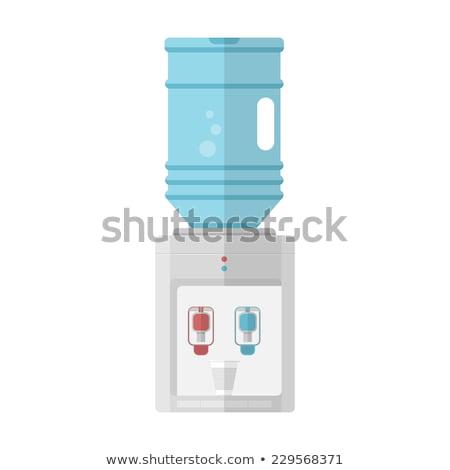 eau · potable · fille · eau · cartoon · isolé - photo stock © biv