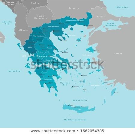 Griekenland · kaart · groot · maat · politiek · vlag - stockfoto © ixstudio