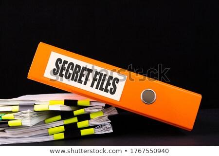 Yellow Office Folder with Inscription Secret Files. Stock photo © tashatuvango