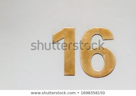 Ház szám fal viharvert utca felirat Stock fotó © Digifoodstock