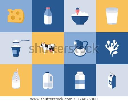 üveg tej terv tejtermék vektor friss tej Stock fotó © robuart