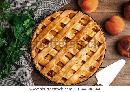 Frutas tarta albaricoque atasco relleno naranja Foto stock © Digifoodstock
