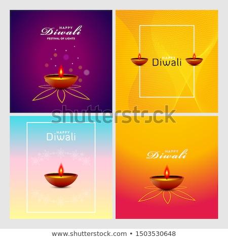elegant diwali festival banners greeting card set background Stock photo © SArts