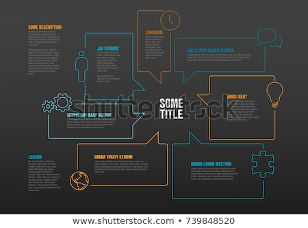Timeline template made from speech bubbles Stock photo © orson
