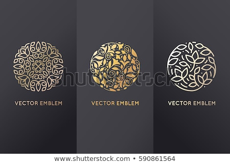 Stockfoto: Bloemen · ontwerp · logo · sjabloon · icon · vector