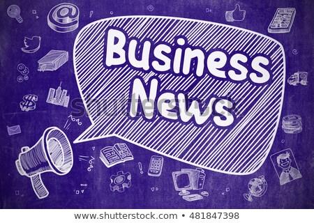 金融 ニュース 手描き 実例 青 黒板 ストックフォト © tashatuvango