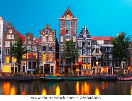 Амстердам ночь выстрел углу Нидерланды весны Сток-фото © dirkr