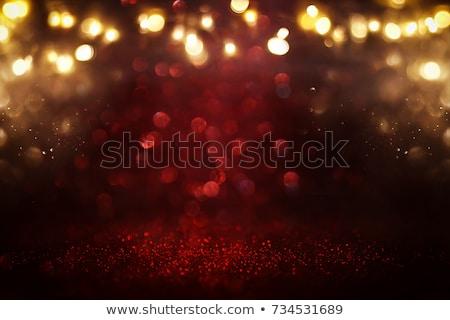 dark red night sky and gold stars background stock photo © orensila