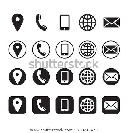 Blue contact icon  Stock photo © Oakozhan