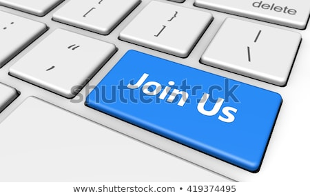 Blauw · business · mail · toetsenbord · 3D - stockfoto © oakozhan