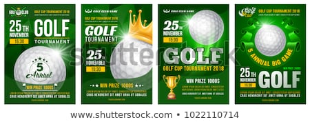 Golf Poster Vector. Sport Event Announcement. Banner Advertising. Professional League. Vertical Spor Stock photo © pikepicture