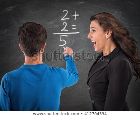 Téves összeg rajz egyenlet mutat helytelen Stock fotó © blamb