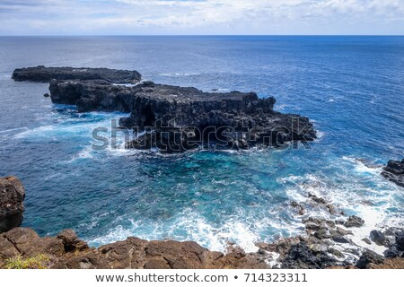 Pacific ocean landscape vue from cliffs in Easter island Stock photo © daboost