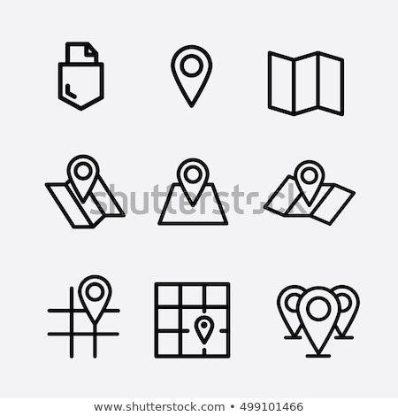 GPS mapa icono blanco carretera calle Foto stock © smoki