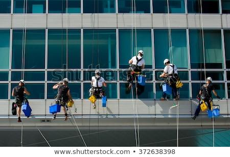 рабочие стекла очистки работу команда безопасности Сток-фото © umbertoleporini